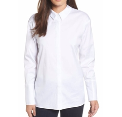 Back Bow Poplin Shirt by Halogen in Maze Runner: The Death Cure