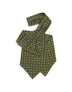 Floral Print Silk Tie Ascot by Forzieri in GoldenEye