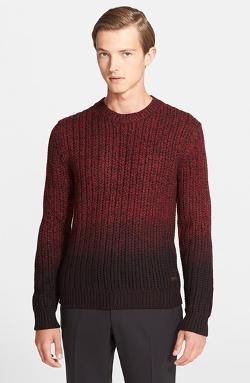 Ombré Wool Crewneck Sweater by Burberry London in Mortdecai