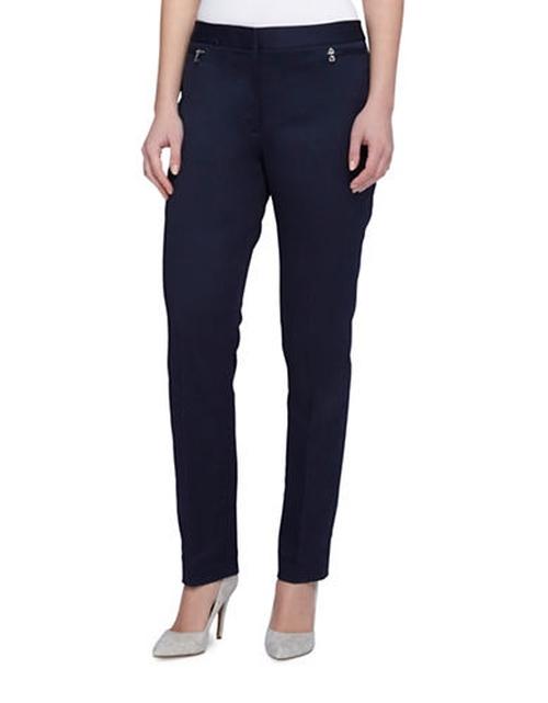 Side Zip Slim Fit Pants by Tahari Arthur S. Levine in Chelsea - Season 1 Episode 1