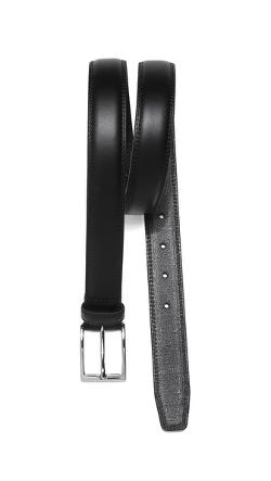 Belt with Silver Tone Buckle by Linea Pelle in Pain & Gain