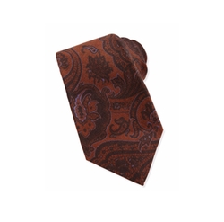 Paisley Wool/Silk Tie by Kiton in Empire