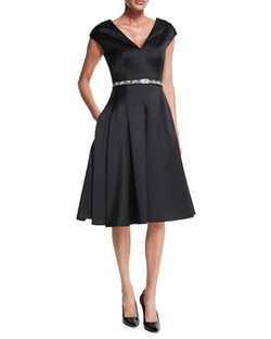 Cap-Sleeve Belted Flounce Dress by Jason Wu in La La Land
