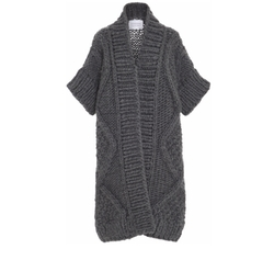 Diamond Wool Knit Cardigan by I Love Mr. Mittens in Power