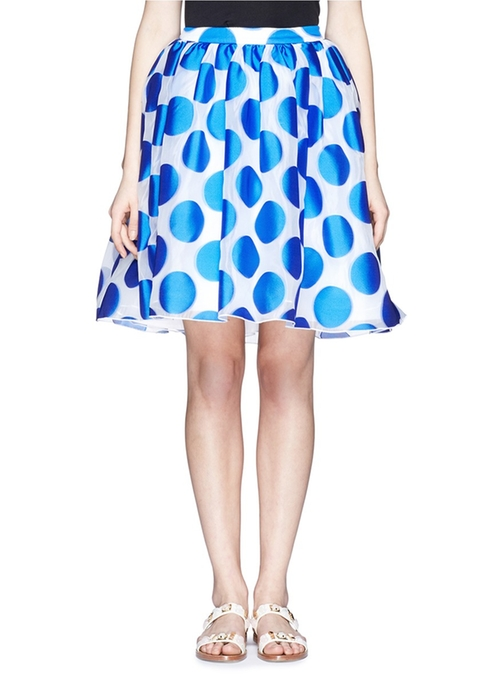 Polka Dot Dip Hem Pouf Skirt by Alice + Olivia in Scream Queens - Season 1 Episode 4