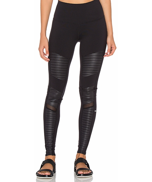 High Waisted Moto Legging by Alo in The Fate of the Furious