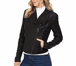Felix Feather Leather Jacket by Marc New York by Andrew Marc in Pitch Perfect 3
