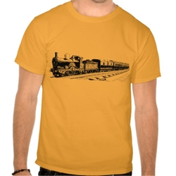 Vintage Train - Black T Shirt by Zazzle in The Big Bang Theory