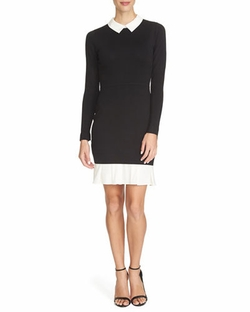 Long-Sleeve Collared Sweater Dress by Cynthia Steffe in Fist Fight