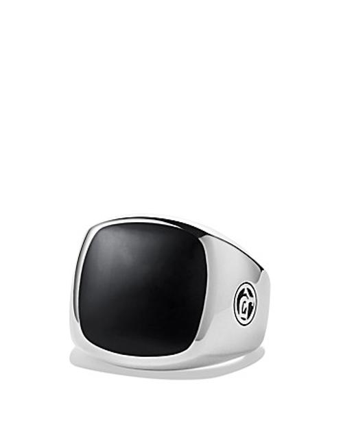 Exotic Stone Signet Ring with Black Onyx by David Yurman in Safe House
