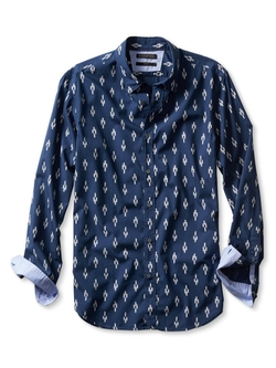 Slim-Fit Custom 078 Wash Ikat Shirt by Banana-Republic in The Mindy Project