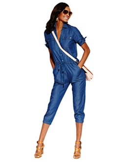 Chambray Jumpsuit by New York & Company in Pitch Perfect 2