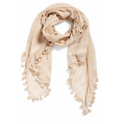 Cotton & Silk Scarf by La Fiorentina in Snatched