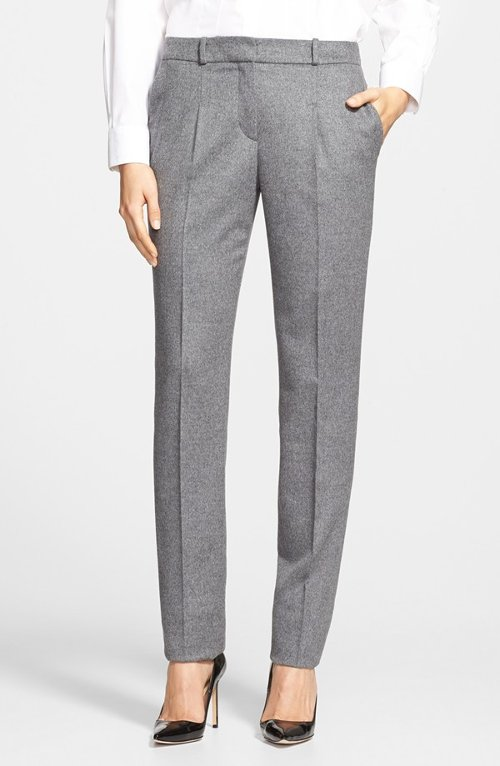 Tumena Wool & Angora Trousers by Boss Hugo Boss in The Boy Next Door