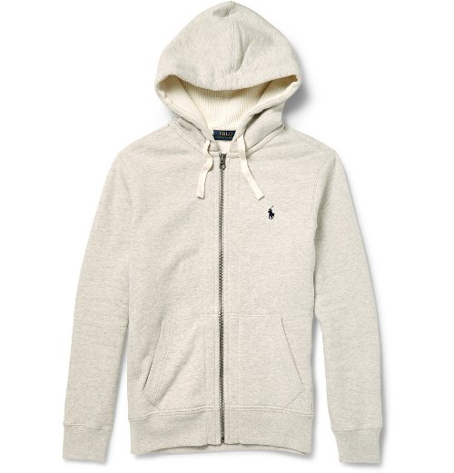 Cotton Blend Hoodie Jacket by Polo Ralph Lauren in Get Hard