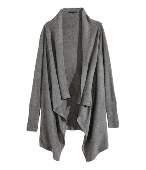 Haley Dunphy's Gray H&M Draped Cardigan from Modern Family ...
