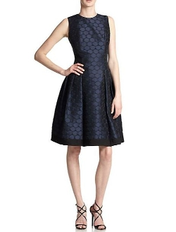 Polka Dot Jacquard Dress by Carmen Marc Valvo in Furious 7