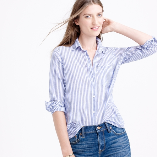 Skinny Stripe Boy Shirt by J.Crew in Scream Queens