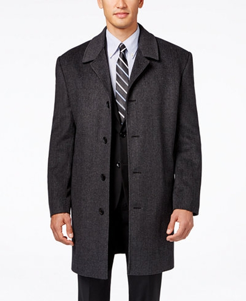 Coventry Check Wool-Blend Overcoat by London Fog in Batman v Superman: Dawn of Justice