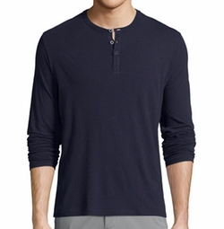 Classic Long-Sleeve Henley Shirt by ATM Anthony Thomas Melillo in Billions