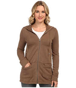 Slub French Terry Tiered Zip Hoodie by Mod-O-Doc in Lady Dynamite