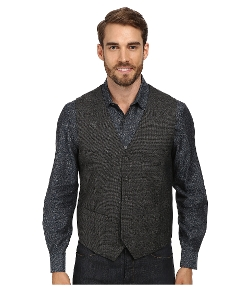 Textured Chambray Suit Vest by Perry Ellis in Self/Less
