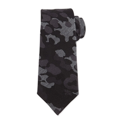 Camo-Print Wool-Blend Tie by Burberry in Empire