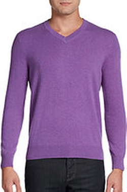 Cashmere V-Neck Sweater by Saks Fifth Avenue in Ballers