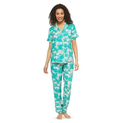 Short Sleeve Woven Pajama Set by Gilligan & O'Malley in The Boss
