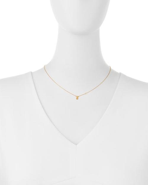 Pineapple Bezel-Diamond Pendant Necklace by SHY by SE  in Pretty Little Liars - Season 7 Episode 6