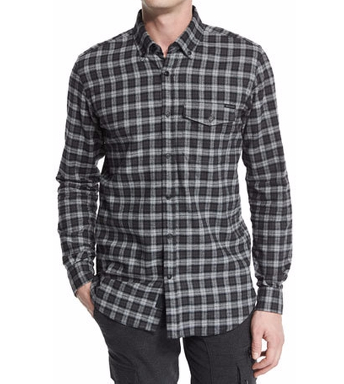 Samuel Check Flannel Long-Sleeve Shirt by Belstaff in Quantico - Season 2 Episode 3