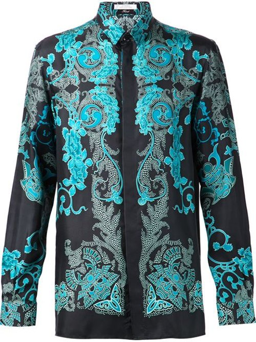 Barocco Samurai Print Shirt by Versace Collection in Top Five