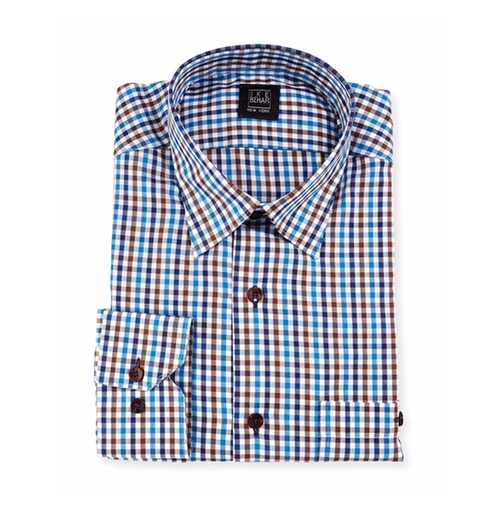 Check Dress Shirt by Ike Behar in The Intern