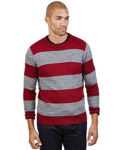 Striped Crew-Neck Sweater by Nautica in Quantico