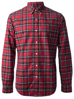 Plaid Button Down Shirt by Polo Ralph Lauren in Begin Again