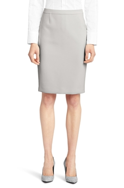 Stretch Double-Faced Cotton Blend Pencil Skirt by Boss in Suits