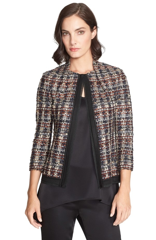 Opulent Tweed Jacket by St. John Collection in The Good Wife - Season 7 Episode 2