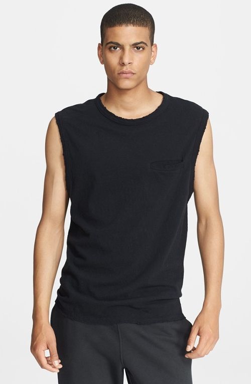 Slub Distressed Muscle T-Shirt by T By Alexander Wang in Southpaw