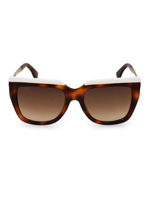 Square-Framed Tortoiseshell Sunglasses by Fendi in Keeping Up With The Kardashians - Season 11 Episode 6