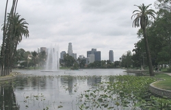 Los Angles, California by Echo Lake Park in Supergirl