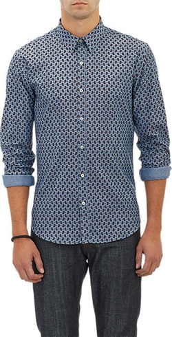 Paisley Oxford Cloth Shirt by Barneys New York in Empire