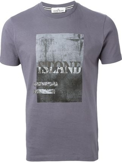Front Print T-Shirt by Stone Island in The Big Bang Theory