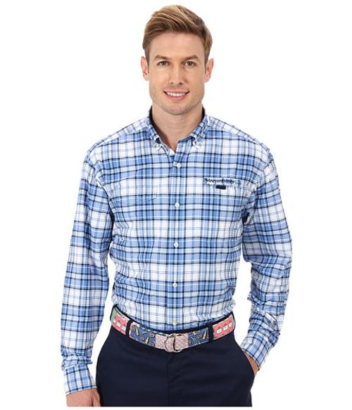 Monohull Plaid Harbor Shirt by Vineyard Vines in Anchorman 2: The Legend Continues