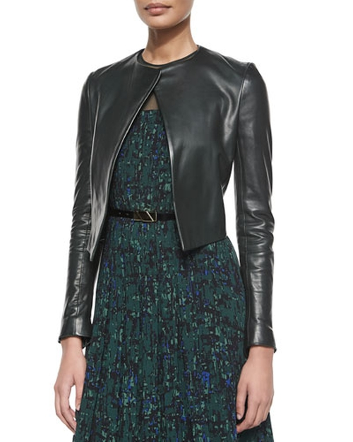 Open-Front Leather Jacket by Jason Wu in The Women