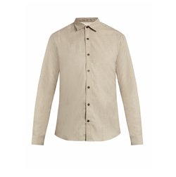 Button-Cuff Cotton And Cashmere-Blend Shirt by Gieves & Hawkes in Wonder Woman