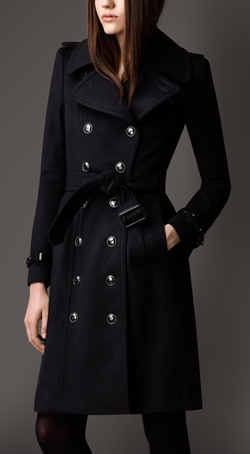 Long Wool Cashmere Regimental Trench Coat by Burberry in Suits