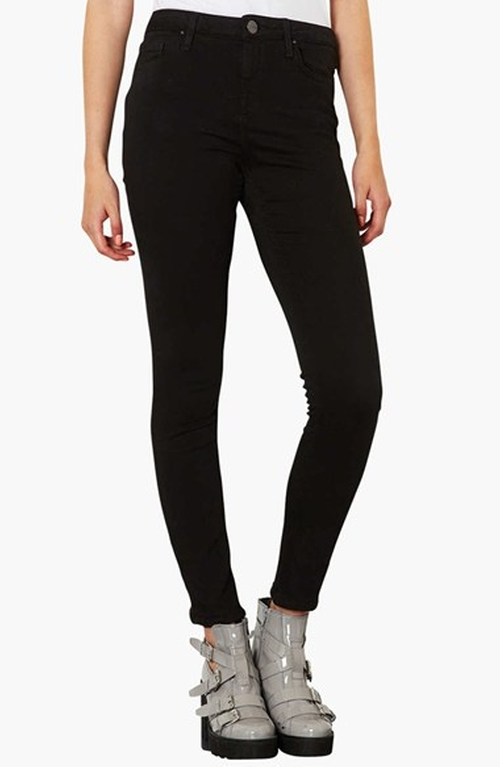 Moto 'Jamie' High Rise Skinny Jeans by Topshop in Easy A