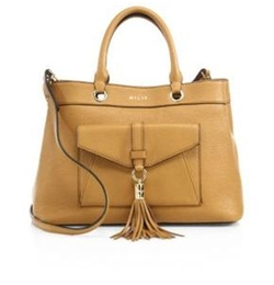 Astor Leather Tote Bag by Milly in Lethal Weapon