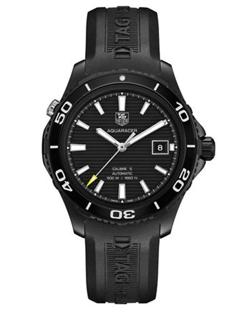 Men's Aquaracer 500 Rubber Strap Watch by Tag Heuer in The Expendables 3