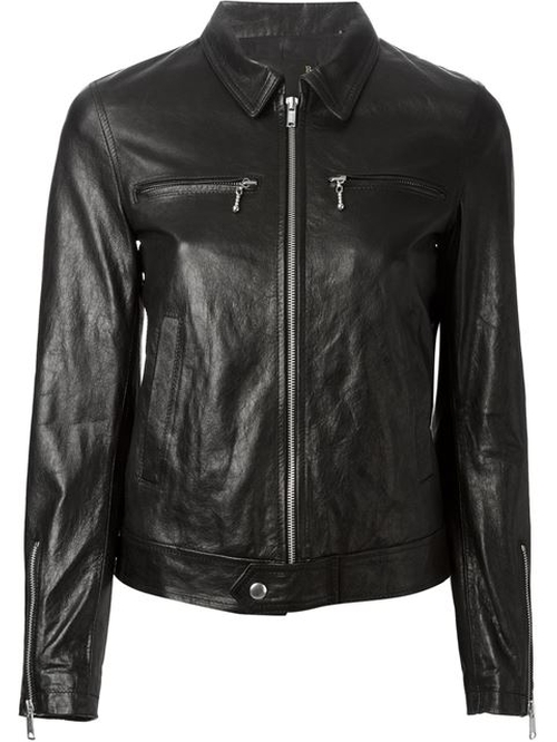 Zip Leather Jacket by R13 in Tomorrow Never Dies